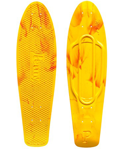 "Penny лонгборд Deck Nickel 27"" Marble Yellow/Orange"