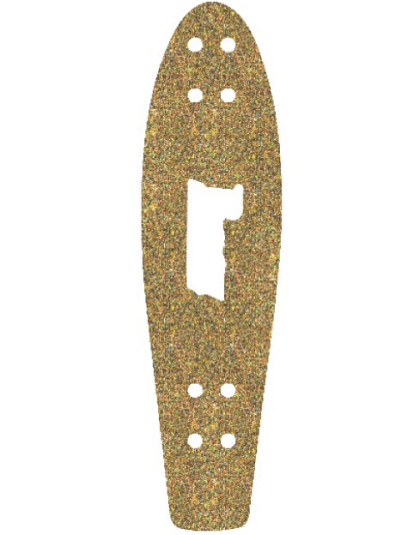 "Шкурка для Penny board 27"" Glitter Gold (SS)"