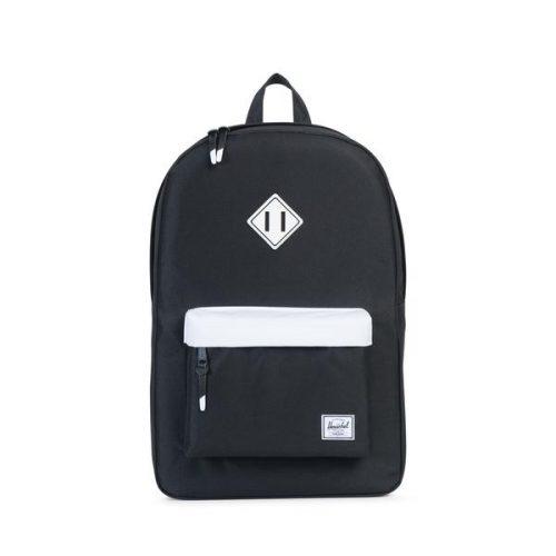 HERSCHEL рюкзак HERITAGE BLACK WHITE BLACK RUBBER WHITE INSERTS