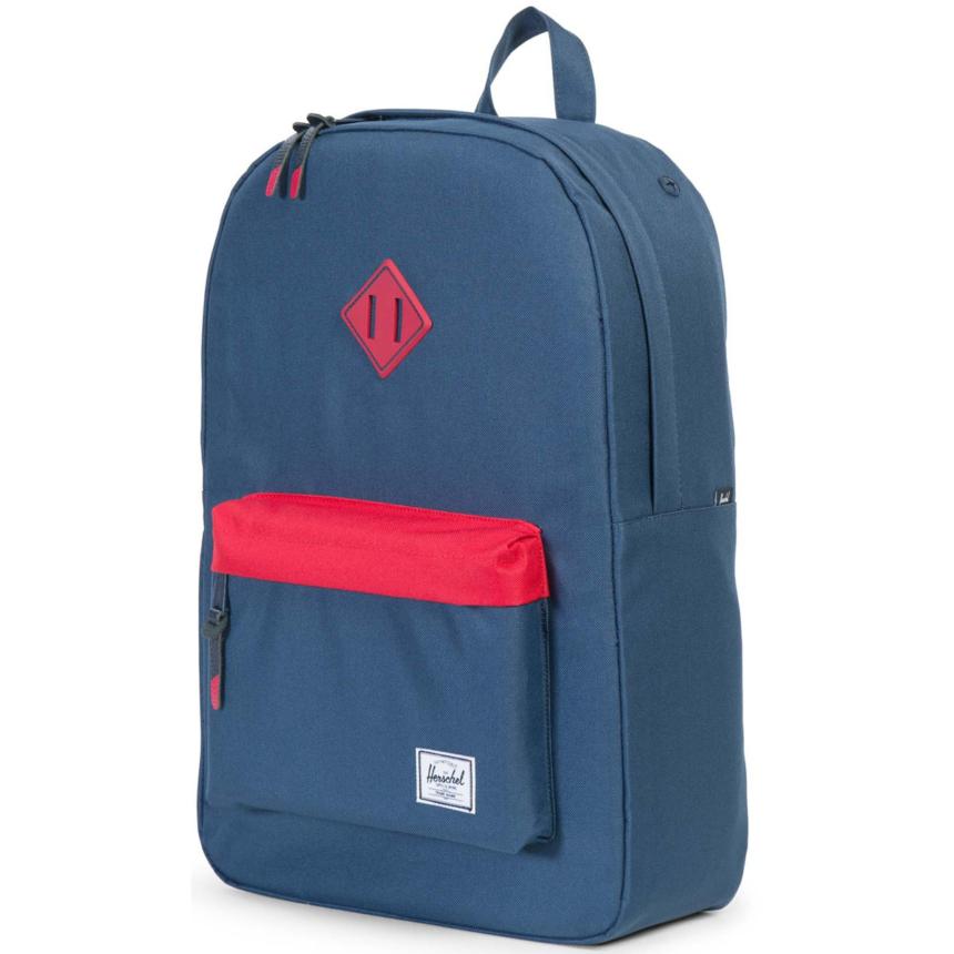 HERSCHEL рюкзак HERITAGE NAVY RED NAVY RUBBER RED INSERTS
