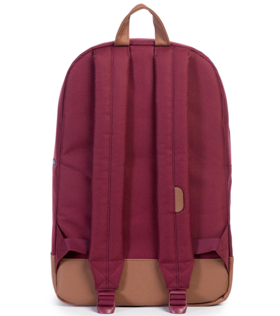 HERSCHEL рюкзак HERITAGE  WINDSOR WINE OFFSET STRIPE VEGGIE TAN LEATHER