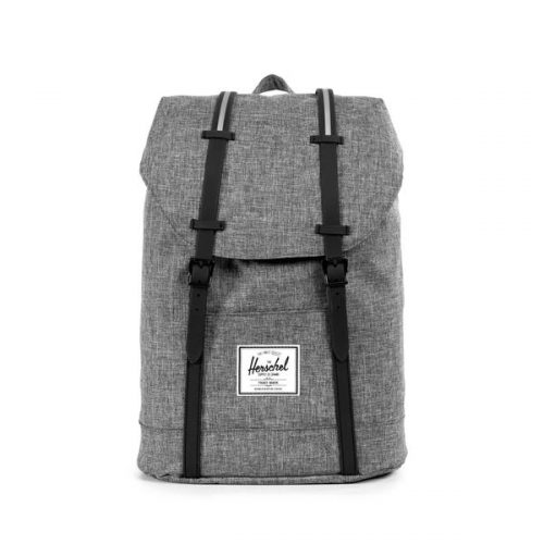 HERSCHEL рюкзак RETREAT RAVEN CROSSHATCH BLACK RUBBER 3M INSERT