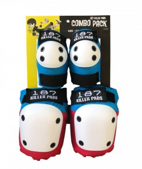 Комплект защиты 187 KILLER PADS Combo Pack Red White Blue