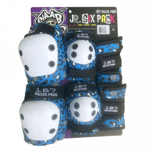Комплект защиты детской 187 KILLER PADS Six Pack Stab Blue
