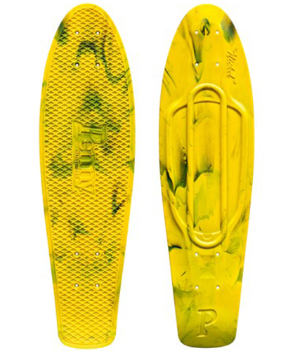 "Penny лонгборд Deck Nickel 27"" Marble Yellow/Black"