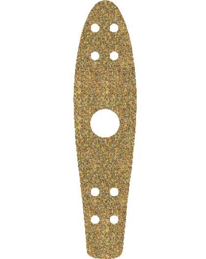 "Шкурка для Penny board 22"" Glitter Gold"